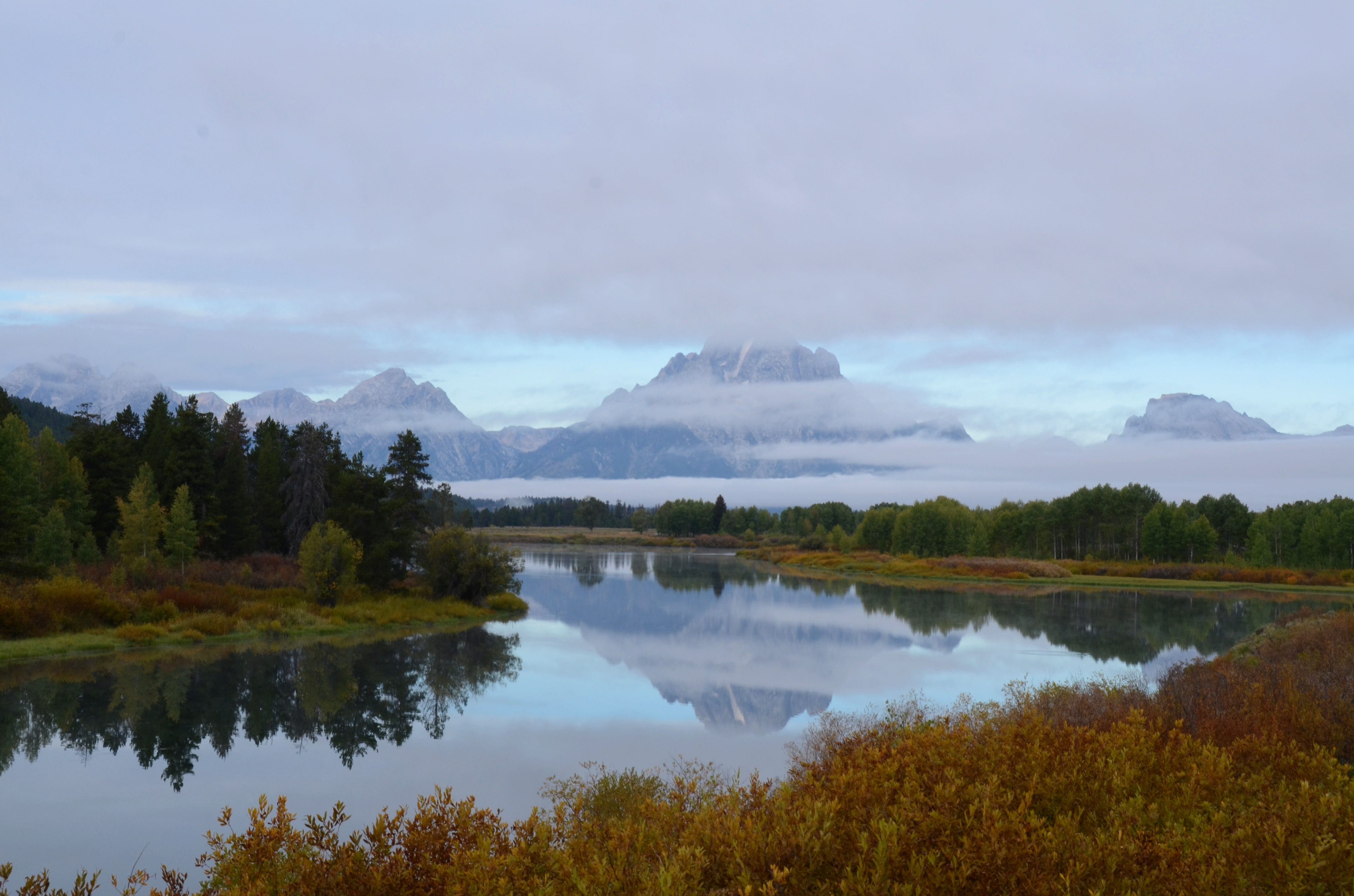 Landscapes Of Grand Tetons And Yellowstone National Parks