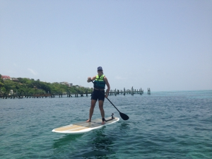 Stand up paddle boarding, Isla Mujeres, Mexico