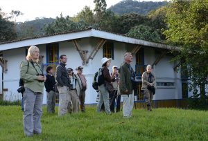 A group of birders in Colombia.