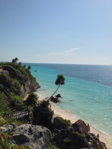 Caribbean views from Tulum Archaeological Site.