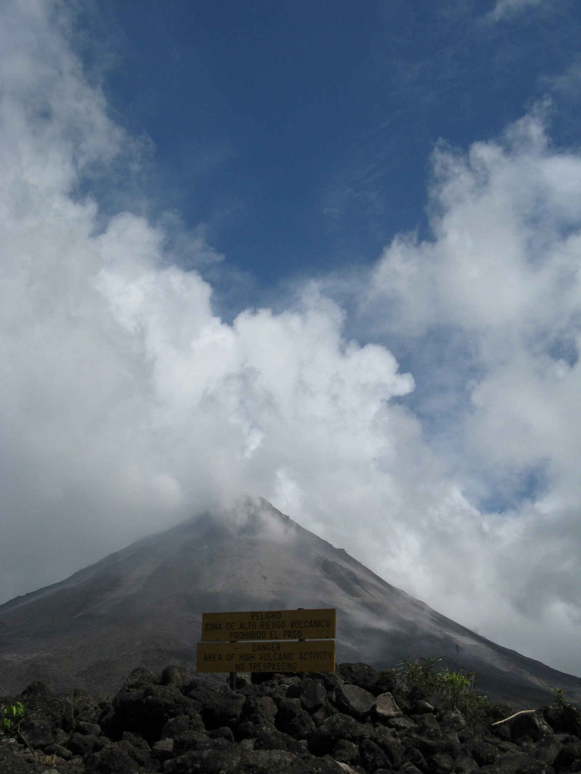 View of Arenal Volcano in the national park.