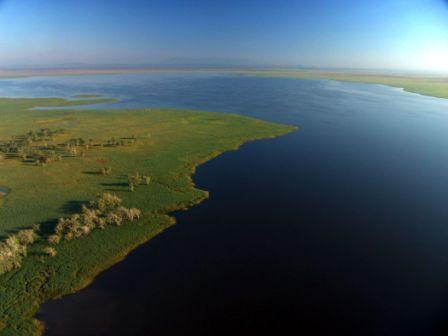 Aerial View of Gorongosa National Park and Lake Urema - Photo by Jeffrey Barbee